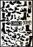 71双黑色鞋子 库存例证