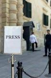 瓦莱塔,马耳他– 7月11 :赫尔曼・范龙佩访问马耳他 库存照片