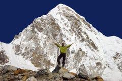 7165m kalapattar pumo ri视图 免版税图库摄影