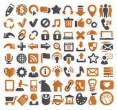 72 иконы сети Стоковое Фото