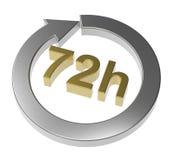 72 horas de sinal da entrega Imagens de Stock