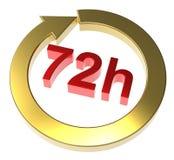 72 horas de sinal da entrega Fotos de Stock