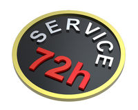 72 hours service sign. Computer generated 3D photo rendering royalty free illustration