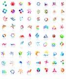 72 iconos coloridos del vector: (fije 1) Foto de archivo