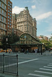 在第72条街道和百老汇的1 2 3地铁站在曼哈顿,纽约,美国 免版税库存图片