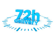 72h delivery. 3d render illustration Royalty Free Stock Photography