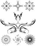73 украшения искусства орнаментального Иллюстрация штока
