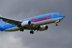 737波音thomson 库存图片
