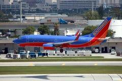 737西南的波音 免版税库存照片