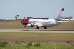 737 800 проветривают челнок норвежца Боинга Стоковые Фото