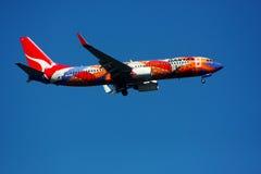 737 800 boeing qantas Arkivfoto