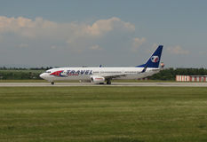 旅行服务波音737-900 免版税库存图片