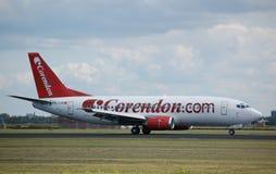 737 boeing corendon Royaltyfria Foton
