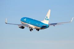 737 boeing klm Royaltyfria Bilder