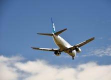 737 luft boeing christchurch landar New Zealand Royaltyfri Fotografi
