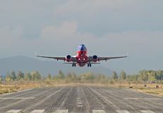 737 takeoff Stock Photography