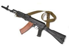 74 ak攻击卡拉什尼科夫步枪俄语 库存照片