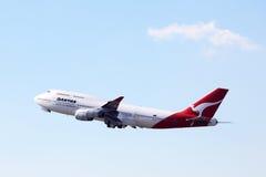 747波音qantas 免版税库存图片