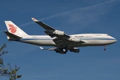 747航空波音货物瓷 免版税图库摄影