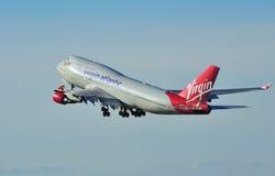 747 ατλαντικό Boeing Virgin στοκ φωτογραφία με δικαίωμα ελεύθερης χρήσης