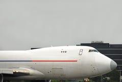 747 boeing closeupcockpit Arkivbilder