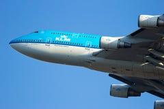 747 boeing klm Royaltyfri Fotografi
