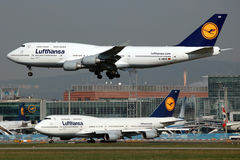 747 Boeing Lufthansa Στοκ εικόνα με δικαίωμα ελεύθερης χρήσης
