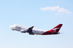 747 boeing qantas Royaltyfria Bilder