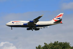 747 brittiska flygbolag Arkivfoto