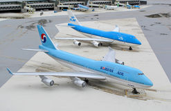 747 flygplan boeing Arkivfoton