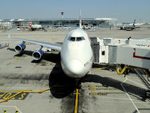 747 at Gate Royalty Free Stock Photography