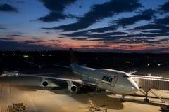 747 lotnisk Boeing Narita nwa Zdjęcie Stock