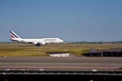 747 luft boeing france Royaltyfri Bild