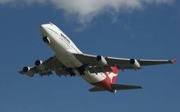 747 qantas Боинга Стоковая Фотография