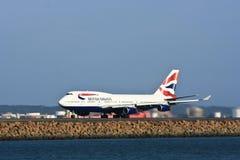 747 trafikflygplanflygbolagboeing british stråle Arkivfoton