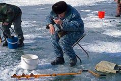75钓鱼的冬天 免版税库存图片