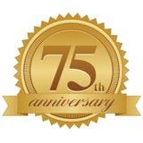 第75个周年纪念密封 免版税库存图片