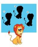 75 gier lwa cień Zdjęcia Stock