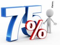 75% hors fonction Image libre de droits