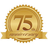 75.o Sello del aniversario Imagen de archivo libre de regalías