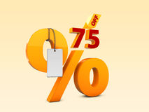 75 Off Special Offer Sale 3d Illustration. Discount Offer Price Symbol Royalty Free Stock Image