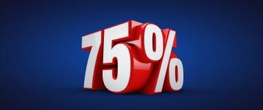 75 Percent Royalty Free Stock Photo