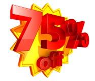 75 por cento fora ilustração stock