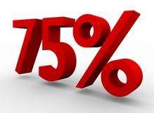 75 procent红色 免版税库存照片