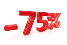 75 procent försäljningstecken Royaltyfria Foton