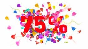 75 Prozent weg Lizenzfreie Stockfotos