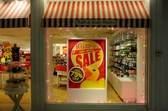 Free 75 Sale At Bath And Body Works Royalty Free Stock Images - 107094459