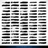 75 vector dry grunge brushes. 75 hand drawn vector grunge brushes for designers and illustrators Stock Photos