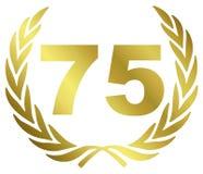 75 verjaardag stock illustratie