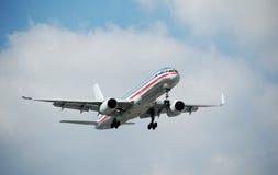 757架飞机现代波音的喷气机 免版税库存照片